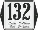 10 X 10 CM<br /> NUMER DOMU Z UCHAMI<br /> Z NAZWĄ
