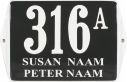 16 X 12 CM<br /> NUMER DOMU Z UCHAMI<br /> Z NAZWĄ
