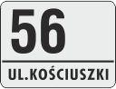30 X 22,5 CM<br /> NUMER DOMU <br /> KRAWĘDZIE ZAGIĘTE