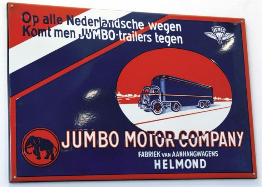 100 X 60 CM  <br /> JUMBO MOTOR CO <br /> Z ZAGIĘTYMI KRAWĘDZIAMI
