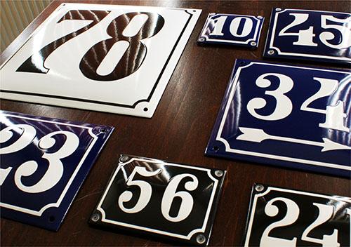 Emaliowane numery domów